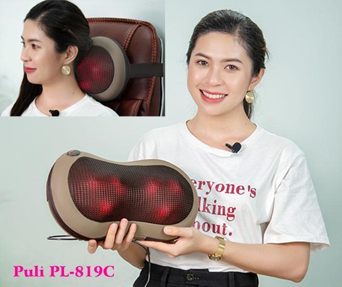 Gối massage hồng ngoại ô tô Hàn Quốc Puli PL-819C